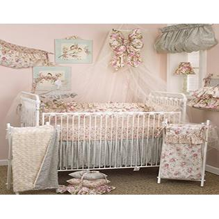 Cotton Tale Designs Tea Party 8 Piece Nursery Crib Bedding Set 100 Cotton Shabby Chic Soft Colorful Vintage Floral And