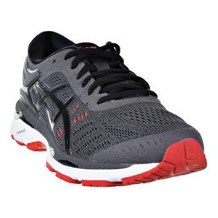 beaf52e5699b ASICS Asics Gel Kayano 24 Men s Running Shoes Dark Grey Black Fiery Red  t749n