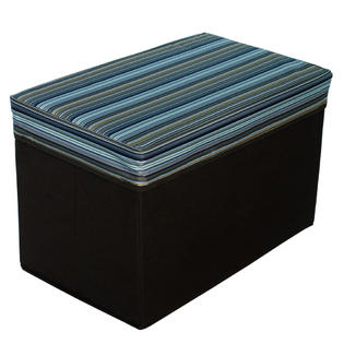 Blancho Bedding [Multi Stripe - Brown] Rectangle Foldable Storage Ottoman / Storage Boxes / Storage Seat (3PC) at Sears.com