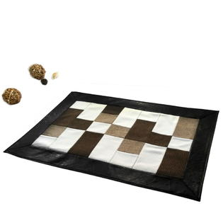 Blancho Khaki Rug Patchwork Non-Slip Rugs Leisure Style Area Rug 23*35 inches