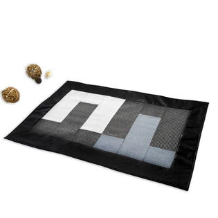Blancho Black Rug Decorative Indoor Rugs Bedroom Rugs 23*35 inches with Non-Slip