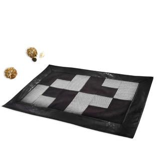 Blancho Black Rug with Non-Slip Backing Patchwork Kitchen Rugs 23*35 inches