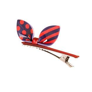 Panda Superstore Set of 2 Rabbit Ear Hair Pin Fashion Hair Clip/Hairpin,Red/Purple