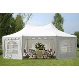 DELTA Canopies - 29'x21' Decagonal Wedding Party Tent Canopy Gazebo Heavy Duty Water Resistant White at Sears.com