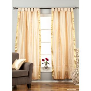 Indian Selections Misty Rose  Tab Top  Sheer Sari Curtain / Drape / Panel  - Pair at Sears.com