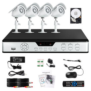 Zmodo 8CH H.264 DVR Surveillance System with 4 Outdoor Day/Night Security Cameras-500GB HD at Sears.com