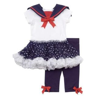 Rare Editions 3 month - 6X Girls Navy and White Nautical Tutu Legging Set 6 months at Sears.com