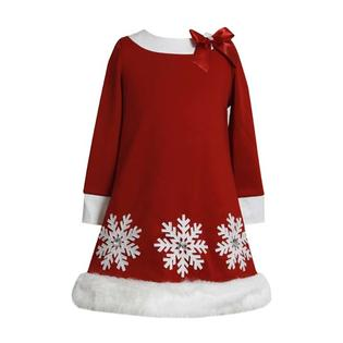 Bonnie Jean Collection Girls Red Christmas Holiday Dress: Sparkle Snowflake Dress 6X at Sears.com