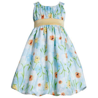 Bonnie Jean Girls Easter Dress Aqua Floral Dress 5 at Sears.com