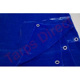 Harpster Tarps 25 ft x 40 ft BLUE Tarp - 2.9 oz. Economy Lightweight Cover Waterproof
