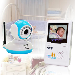 SVP Digital Wireless Security Baby Monitor System / Nursery Monitor / IR Night Vision / 2-Way Talk at Sears.com
