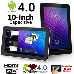 SVP 10-inch Android 4.0 ICS Tablet PC WiFi Capacitive Touch Screen 1.3GHz 8GB Flash HDMI F&B Cameras at Sears.com