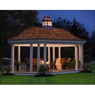 Gazebo Creations 10' x 24' Vinyl Elongated Hexagon Belle Gazebo at Sears.com