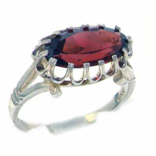 The Great British Jeweler Quality Solid Sterling Silver Genuine 2.5ct Garnet English Victorian Inspired Ring - Finger Sizes 5 to 12 Available at Sears.com