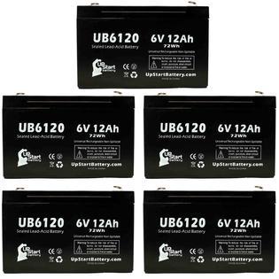 UpStart Battery 5x Pack - ALARIS MEDICAL 926 INFUSION PUMPS Battery - Replacement UB6120 Universal SLA Battery (6V, 12Ah, 12000mAh) at Sears.com