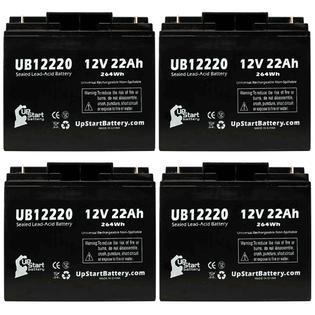 UpStart Battery 4x Pack - Access Battery 2B2G Battery - Replacement UB12220 Universal Sealed Lead Acid Battery (12V, 22Ah, T4 Terminal,) at Sears.com