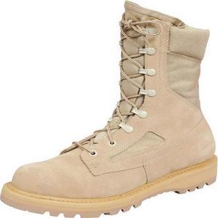 Rocky Work Boots Mens US Army Steel Toe Welt Cordura Desert Tan R6008
