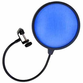 Seismic Audio SA-MicScreenBlue - Flexible Microphone Wind Screen Studio Mic Pop Filter Blue at Sears.com