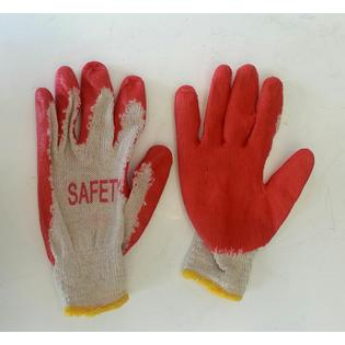 Tell Manufacturing 300 Pairs Red Latex Rubber Palm Coated Work Gloves at Sears.com