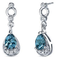 peora Simply Classy 1.50 Carats London Blue Topaz Dangle Earrings in Sterling Silver at Sears.com