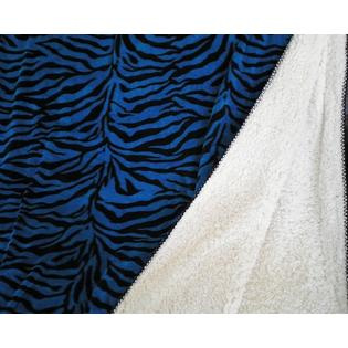 OctoRose � SUPER SOFT FAUX FUR / MICRO FIBER REVERSIBLE ZEBRA BLUE BLANKET at Sears.com