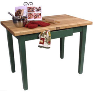 John Boos 48 Wide Classic Country Worktable, Basil Green at Sears.com