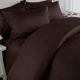 sheetsnthings Solid Chocolate 450 Thread Count Olympic Queen Sheet Set 100% Egyptian Cotton 4pc Bed Sheet set (Deep Pocket)450TC at Sears.com