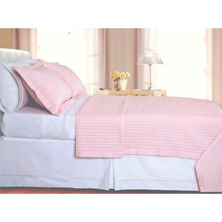 sheetsnthings Full/Queen Size 400 Thread count Blush Coverlet Set Including Matching Shams 100% Egyptian Cotton at Sears.com