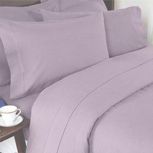 sheetsnthings 450 Thread Count Solid Lilac Cal king Unattached Waterbed Sheet set 100% Egyptian Cotton 4pc Sheet set deep pocket 450TC at Sears.com