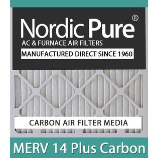 Nordic Pure 20x24x4M14C-1 MERV 14 Plus Carbon AC Furnace Air Filters Qty-1 at Sears.com