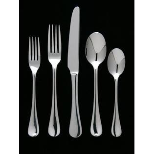 Overstock.com Maison Luxe 18/10 'Ribbon Frost' 45-piece Flatware ...