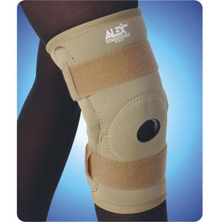 ALEX ORTHOPEDIC Neoprene Hinged Knee Brace Open Patella, Large, Black