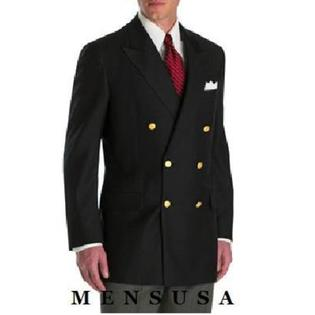 SuitUSA MENS DOUBLE BREASTED BLACK BLAZER COAT at Sears.com