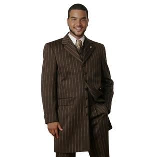 SuitUSA MENS 38 LONG BROWN PINSTRIPE ZOOT SUIT at Sears.com