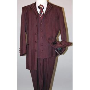 SuitUSA MENS BURGUNDY ZOOT SUIT TONE ON TONE PINSTRIPE at Sears.com