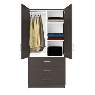 Contempo Space Alta Wardrobe Closet - 3 Drawer Wardrobe, Shelves, Hangrod at Sears.com