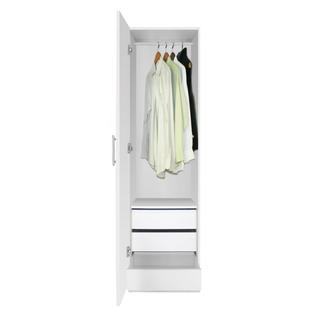 Contempo Space Alta Narrow Wardrobe Closet - Left Door, 3 Interior Drawers at Sears.com