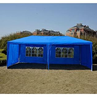 Outsunny 10' x 20' Gazebo Canopy Party Tent w/ 4 Removable Side Walls - Blue at Sears.com