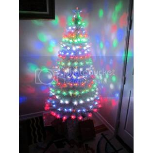 Christmas Trees 5.5 Foot Pre-Lit White Artificial Fiber Optic Lighted Christmas Tree + MULTICOLOR LED Lights Home Decoration at Sears.com