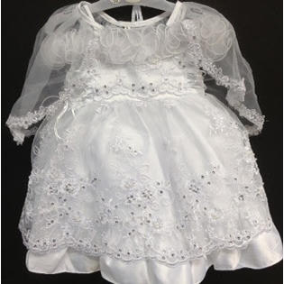 Angel Girl Toddler WHITE Christening Baptism Dress Gown/#XS/S/M/L/XL/0-3M/3-6M/6-12M/12-18M/18-24M/XSMALL/SMALL/MEDIUM/LARGE/X L/5615 at Sears.com