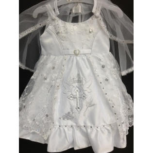 Angel Girl Toddler WHITE Christening Baptism Dress Gown/#XS/S/M/L/XL/0-3M/3-6M/6-12M/12-18M/18-24M/XSMALL/SMALL/MEDIUM/LARGE/X L/5611B at Sears.com