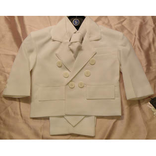 Angel Toddler Baby Boy WHITE Tuxedo suit/Christening Baptism/wedding/SMALL/MEDIUM/LARGE/EXTRA LARGE/3-6 m/6-12 M/12-18 M/18-24-M/#2655 at Sears.com
