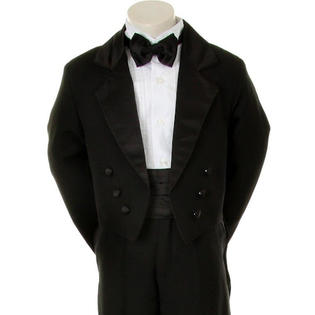 Angels Baby Boy Tuxedo black tail suit/Christening Baptism dress/S/M/L/XL/3-6M/6-12M/12-18M/18-24M/SMALL/MEDIUM/LARGE/X LARGE/#008B at Sears.com