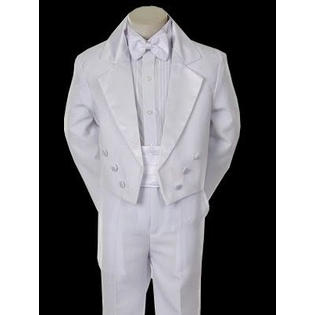 Angel Baby Boy Tuxedo white suit/Christening Baptism dress/S/M/L/XL//3-6M/6-12M/12-18M/18-24M/SMALL/MEDIUM/LARGE/X LARGE/tail/wt2c at Sears.com