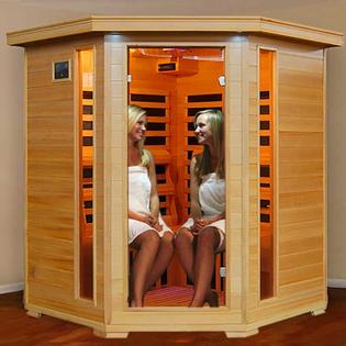 HeatWave Tuscon Ultra 4 Person Corner Carbon Infrared Heatwave Sauna-Free Extras at Sears.com