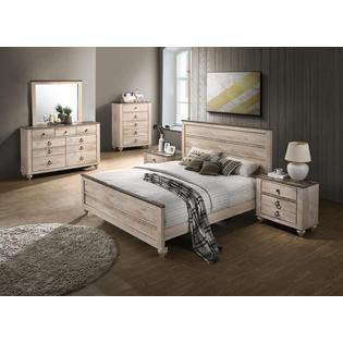Furnituremaxx Imerland Contemporary White Wash Finish ...