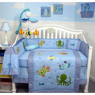 SoHo Designs Sea Life Baby Crib Nursery Bedding Set 14 pcs included Diaper Bag with Changing Pad, Accessory Case & Bottle Case at Sears.com