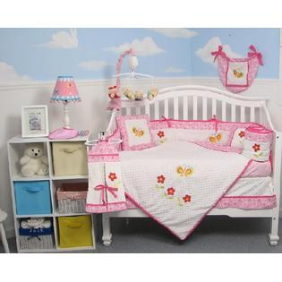 Soho Designs Butterflies Garden Baby Crib Nursery Bedding Set 14 pcs included Diaper Bag with Changing Pad, Accessory Case & Bottle Case at Sears.com
