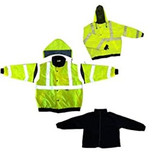 Global Glove Global GLO-B1 Polyurethane Class 3 Five in One Winter Jacket with 3M Scotchlite Reflective and Removable Fleece, X-Large at Sears.com
