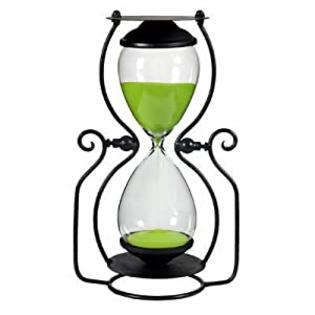 "FantasticDecor 45 Min. Hourglass Lime Sand Timer In Stand 12.5"" at Sears.com"